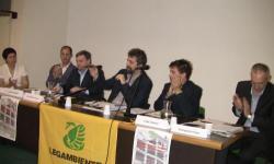 """Il tavolo dei relatori al centro """"Da Vinci"""" di San Donà di Piave"""