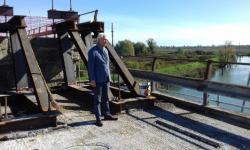 Il Consigliere metropolitano Saverio Centenaro in sopralluogo ai lavori sul ponte sulla SP 43
