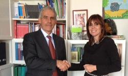 La consigliera di parità Cavallarin con Roberto Scarpa