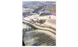 Danni del maltempo (foto aerea dall'elicottero Drago 80 dei vigili del fuoco)