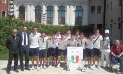 premiati: la squadra allievi calcio a cinque a Ca' Corner