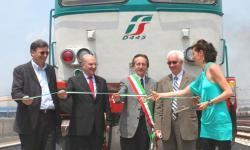 taglio del nastro del nuovo parco ferroviario al Porto di Venezia