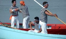 regatanti in laguna a Venezia