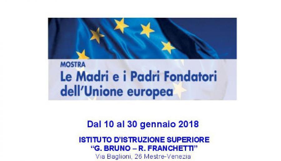 mostra Madri e Padri Fondatori dell'Unione europea al Bruno Franchetti