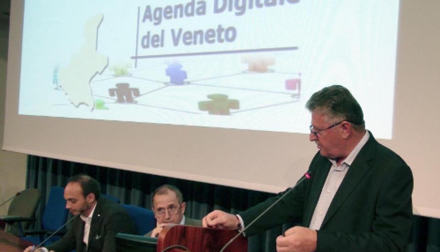 un momento della presentazione dell'Agenda Digitale del Veneto